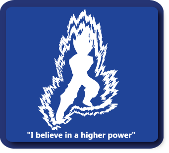 I Believe in a Higher Power – Custom Decal