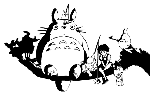 Limited Edition Totoro Fishing Decal