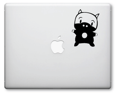 Cute Ninja Pig Decals / Stickers