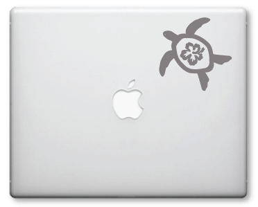 Turtle Hibiscus Decals / Stickers 5
