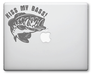 Kiss My Bass Decals / Stickers