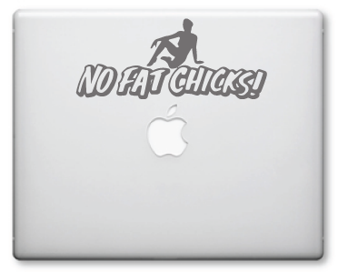 No Fat Chick Decals / Stickers
