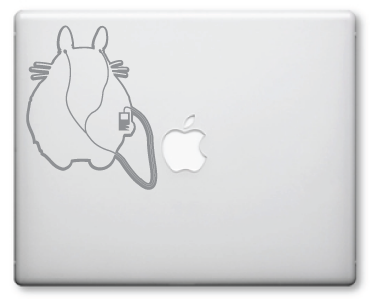 IPod Totoro Decals / Stickers 15